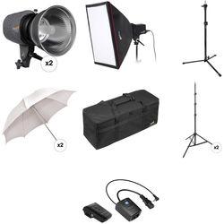 Impact Three Monolight Portrait Backlight Kit with Case (120VAC)