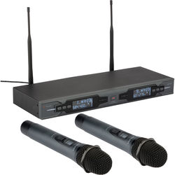 Polsen ULWS-216-H Dual 16-Channel UHF Wireless Handheld Microphone System (584.400 to 602.450 MHz)