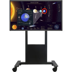 """NEC 65"""" Touchscreen Display with Intel NUC Celeron PC and Manual Cart"""