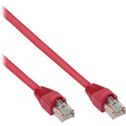 Pearstone Cat 6a Snagless Patch Cable (1', Red)