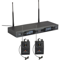 Polsen ULWS-216 Dual 16-Channel UHF Wireless Lavalier Microphone System (584.400 to 602.450 MHz)