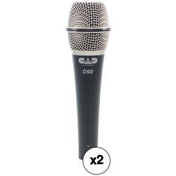 CAD CADLive D90 Premium Supercardioid Dynamic Handheld Microphone Kit (2-Pack)