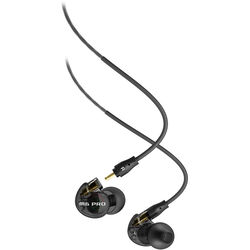 MEE audio M6 PRO 2nd Generation Universal-Fit Noise-Isolating Musician's In-Ear Monitors with Detachable Cables (Smoke)