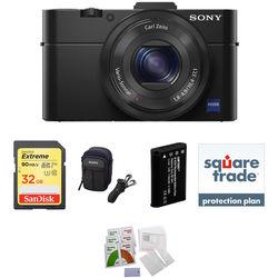 Sony Cyber-shot DSC-RX100 II Digital Camera Deluxe Kit