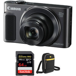 Canon PowerShot SX620 HS Digital Camera with Free Accessory Kit (Black)
