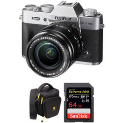 Fujifilm X-T20 Mirrorless Digital Camera with 18-55mm Lens and Free Accessories Kit (Silver)