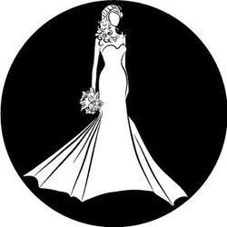 Rosco Bride Silhouette B/W Wedding Glass Gobo (Custom Size)