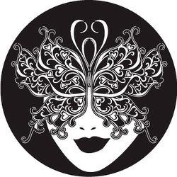 Rosco Carnival Butterfly Mardi Gras Mask B/W Glass Gobo (A Size)