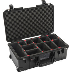 Pelican 1535AirTP 2018-2 Wheeled Carry-On Case with TrekPak Insert (Black)