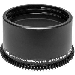 Sea & Sea Zoom Gear for Nikon AF-S Fisheye NIKKOR 8-15mm f/3.5-4.5E ED Lens in Port on MDX Housing