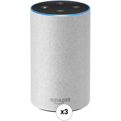 Amazon Echo 3-Pack Kit (2nd Generation, Sandstone Fabric)