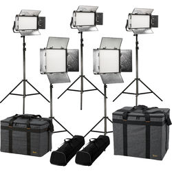 ikan Rayden Bi-Color 5-Point LED Light Kit with 3 x RB5 and 2 x RB10