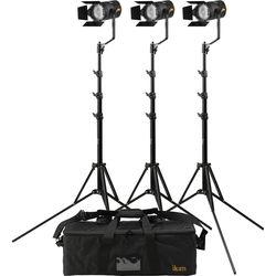 ikan Stryder 50W Daylight LED Fresnel 3-Point Light Kit