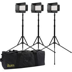 ikan Mylo MB4-TK Mini Bi-Color Field LED 3-Light Kit with Case