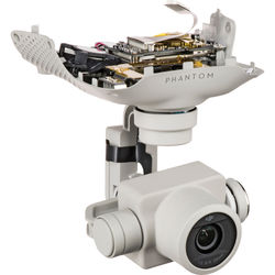 DJI Gimbal Camera for Select Phantom 4 Pro and Advanced Drones (White, 2nd Gen)