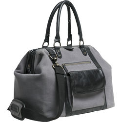 1b4e66604 Kelly Moore Bag Jude 2.0 Gray Canvas Bag with Black Leather Accents