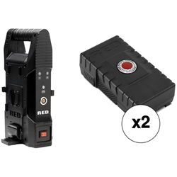 RED DIGITAL CINEMA BRICK CHARGER Kit with 2 x 153Wh BRICK Batteries