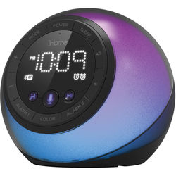 iHome iBT297 Color-Changing Bluetooth Clock Radio
