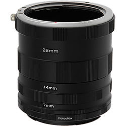 FotodioX Macro Extension Tube Set for Canon EOS (EF, EF-S) Cameras: for Extreme Close-Up Photography