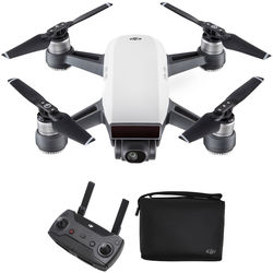 DJI Spark Quadcopter with Remote Controller & Shoulder Bag Kit (Alpine White)