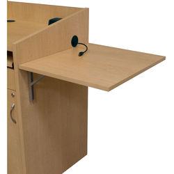 "Middle Atlantic L2 Series 21"" Flip Shelf (Knotted Maple Melamine)"