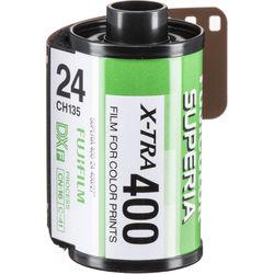FUJIFILM Fujicolor Superia X-TRA 400 Color Negative Film (35mm Roll Film, 24 Exposures)