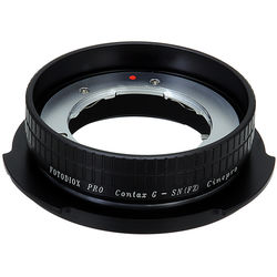 FotodioX Pro Lens Mount Adapter for Contax G SLR Lens to Sony CineAlta FZ-Mount Camera Bodies