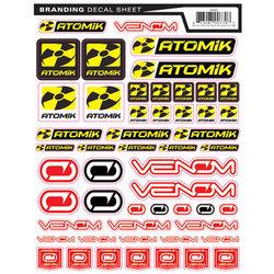 Atomik RC RC and Venom Branding Decal Sticker Sheet