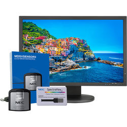 """NEC PA243W-BK-SV 24.1"""" 16:10 Wide Gamut IPS Monitor (with SpectraView II, Black)"""