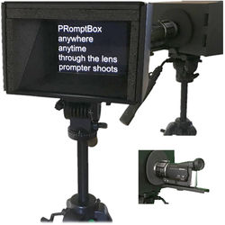 "PRomptBox Compact Folding Mobile Teleprompter for 7 to 9"" iPads, Tablets, and Smartphones with Camera Bracket"