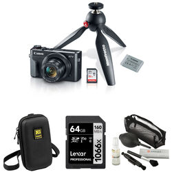 Canon PowerShot G7 X Mark II Digital Camera Video Creator Kit with Free Accessories