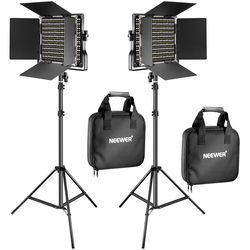 Neewer Bi-Color LED 2-Light Kit with Stands