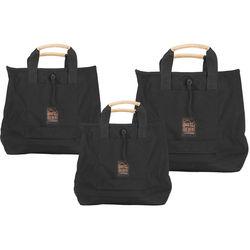 Porta Brace Set of 3 Sack Pack Bags (Black)