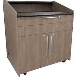 """Middle Atlantic L5 Lectern Turret Top (43 x 31 x 39"""" Sota Style, High-Pressure Laminate, 5th Ave Elm)"""