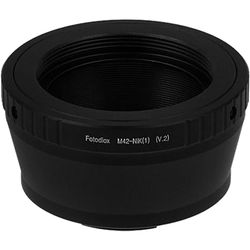 FotodioX  Mount Adapter with Aperture Flange for M42 Type 2 Lens to Nikon 1-Series Camera