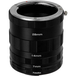 FotodioX Macro Extension Tube Set for Canon EOS M (EF-M) Cameras: for Extreme Close-Up Photography
