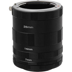 FotodioX Macro Extension Tube Set for Micro Four Thirds (MFT, M4/3) Cameras: for Extreme Close-Up Photography