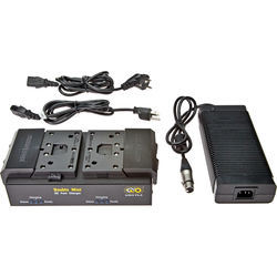 Kino Flo Dual Block Battery Fast Charger System with Universal Power Supply