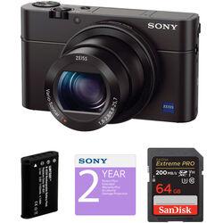Sony Cyber-shot DSC-RX100 III Digital Camera Deluxe Kit