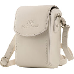 MegaGear  Leather Camera Case for Panasonic Lumix DC-ZS70, DMC-LX10, DMC-ZS60, or DMC-ZS100 (White)