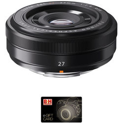 FUJIFILM XF 27mm f/2.8 Lens with Gift Card Kit (Black)