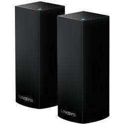 Linksys Velop Wireless AC-4400 Tri-Band Whole Home Mesh Wi-Fi System (2 Units, Black)
