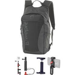 Lowepro Photo Hatchback 16L AW Backpack & Joby Accessories Kit (Slate Gray)