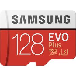 Samsung 128GB EVO Plus UHS-I microSDXC Memory Card with SD Adapter
