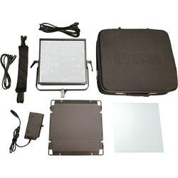 Intellytech Nova-X Bi-Color DMX 60-Degree Flood 1x1 Panel Kit with V-Mount Battery Plate