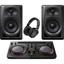 Pioneer DJ Performance Pack with DDJ-WeGO4-K Controller, DM-40 Speakers, and HRM-5 Headphones
