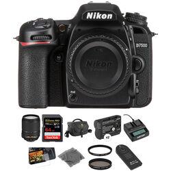 Nikon D7500 DSLR Camera with 18-140mm Lens Deluxe Kit