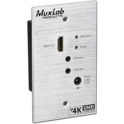 MuxLab 500451-WP-RX HDMI Receiver for Standard Wallplate