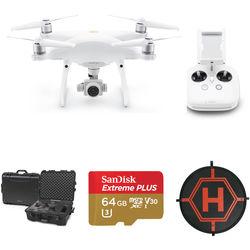 DJI Phantom 4 Pro v2.0 Drone with Hard Case/64GB microSD/Landing Pad Kit