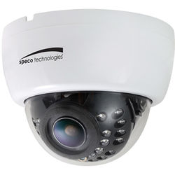 Speco Technologies CLED32DTW 2MP HD-TVI Dome Camera with Night Vision and 2.8-12mm Lens (White)